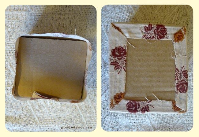 Дно текстильной коробки