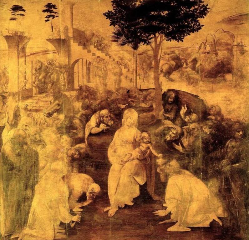 Поклонение волхвов - Леонардо да Винчи (1480)