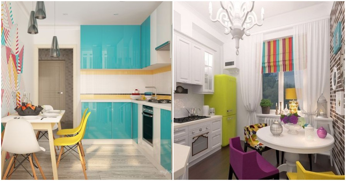 Такой яркой кухне позавидуют все гости! 20 идей для преображения
