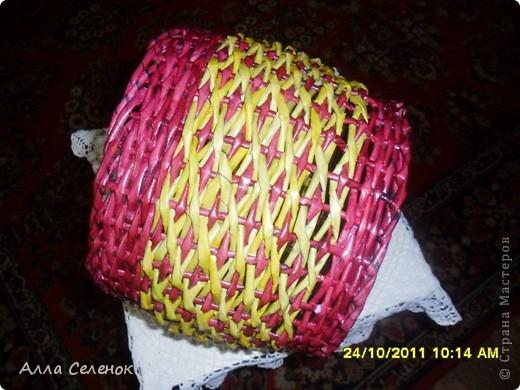 Поделка, изделие Плетение: МК.КАШПО. Бумага газетная. Фото 19