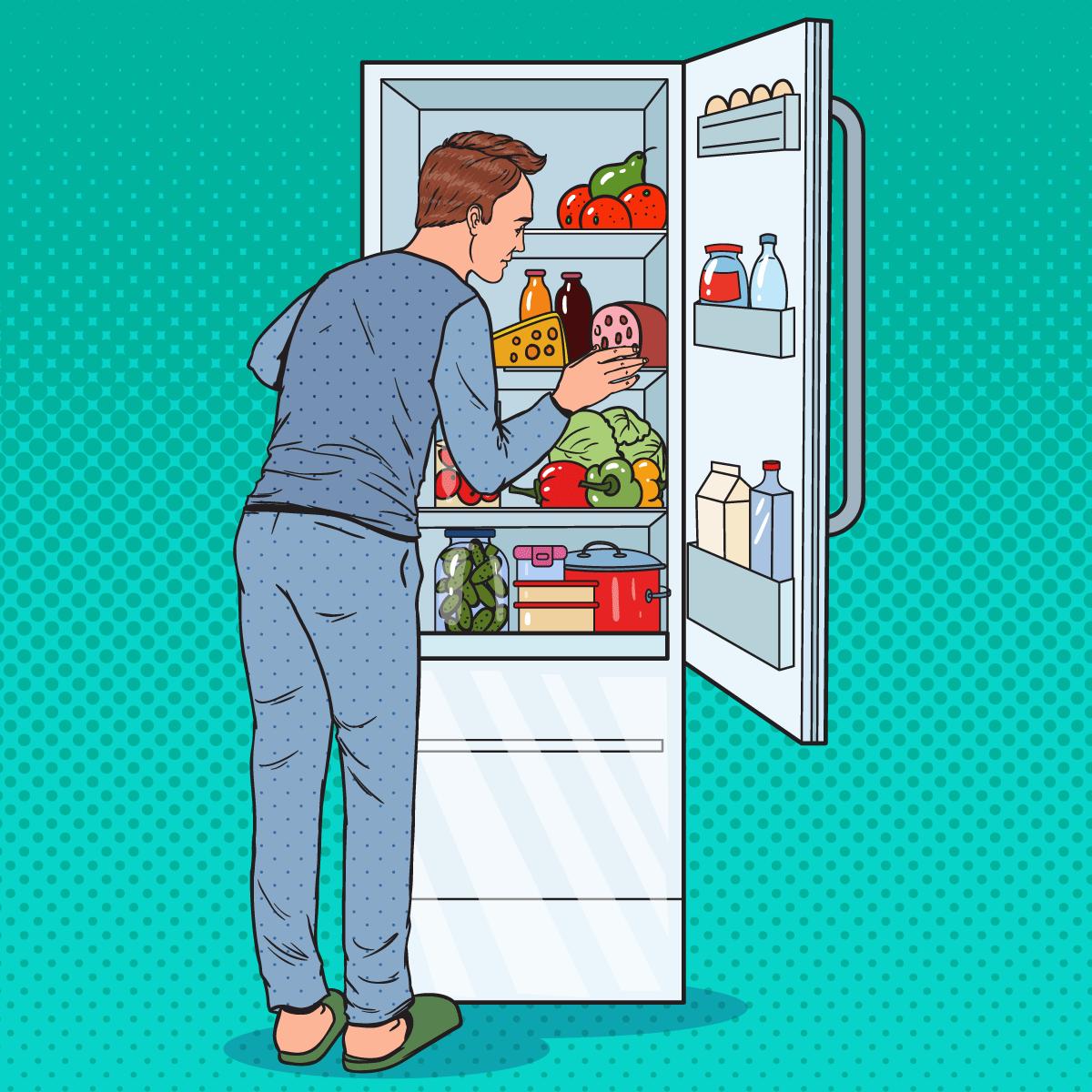 Анекдот промужа, вечнонедовольного содержимым холодильника