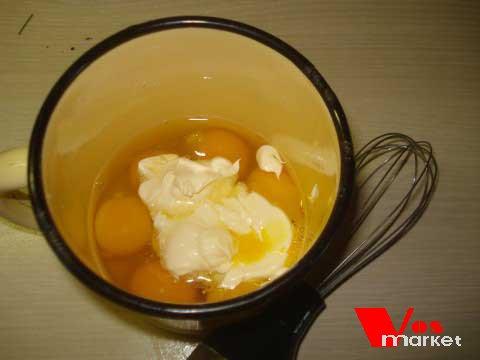 Яйца с майонезом