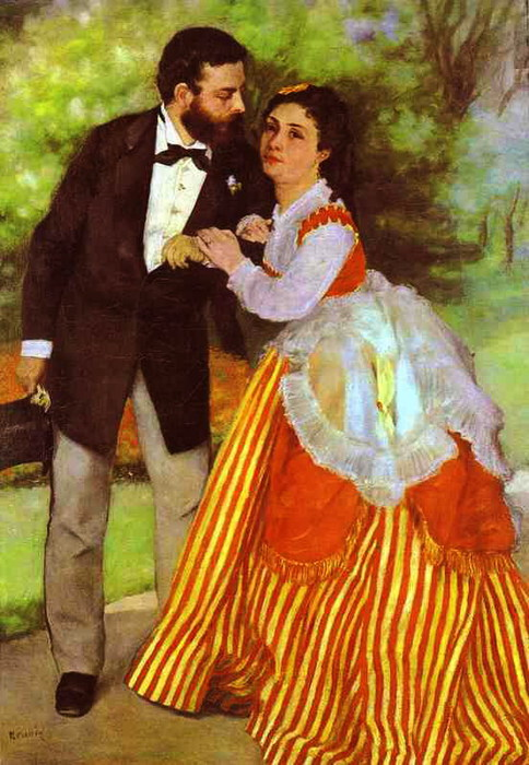 Pierre-Auguste Renoir - Alfred Sisley and His Wife (484x700, 113Kb)