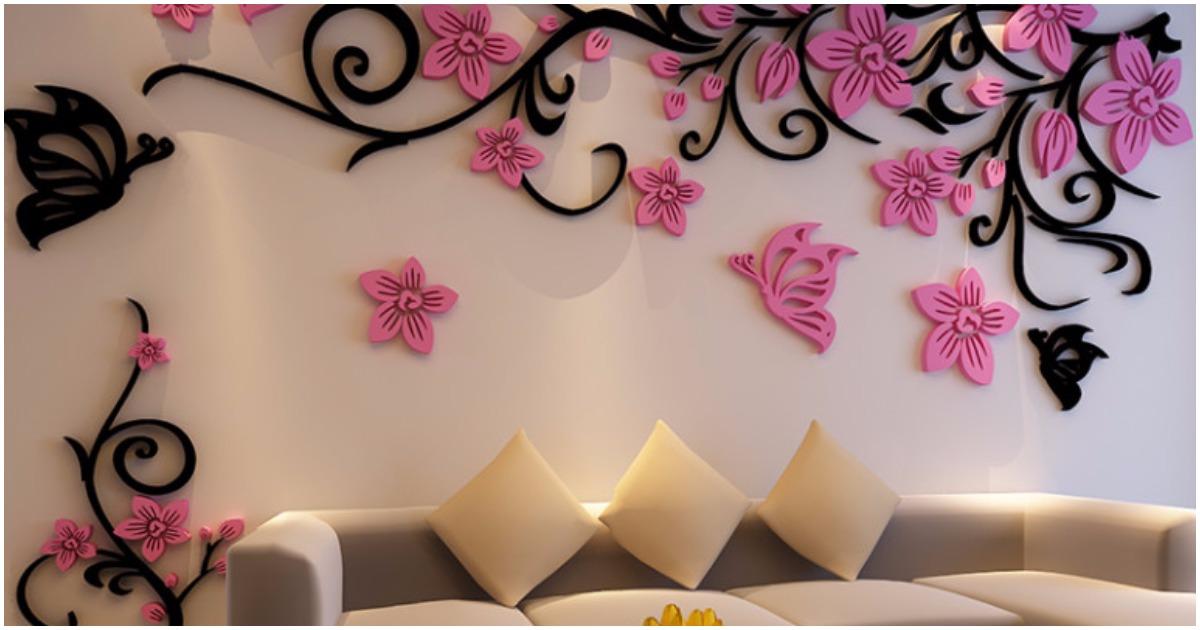 25 красивых идей как украсить стены в комнате