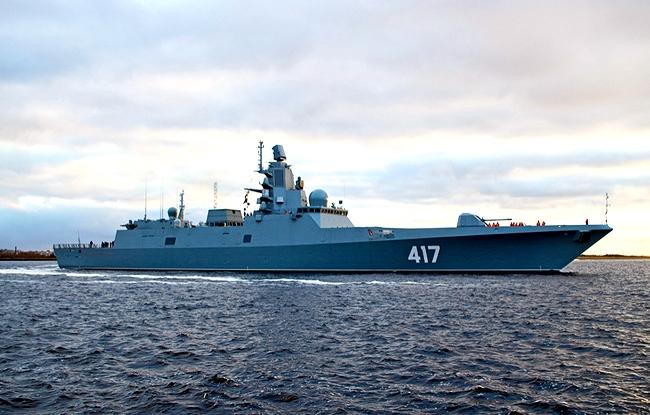 Новейший фрегат «Адмирал Горшков» отстрелялся «Калибрами» и «Ониксами»