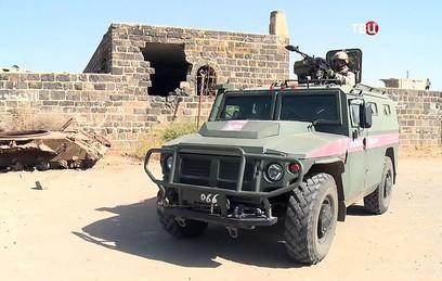 Российские военные участвуют в восстановлении провинции Дераа