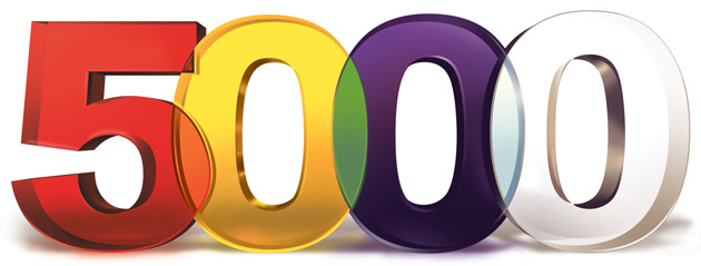 Мы прирастаем! Нас более 5000!