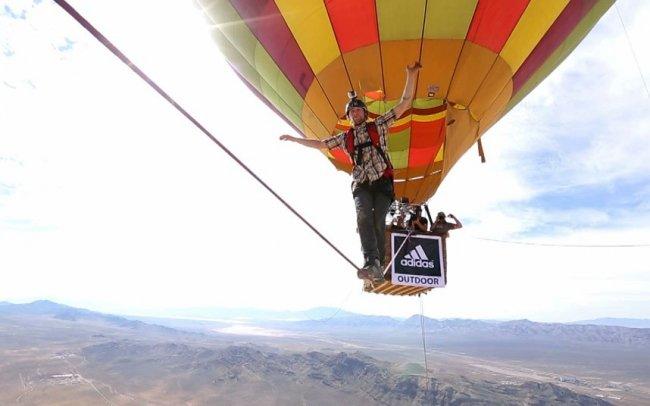 Прогулка на высоте между воздушными шарами