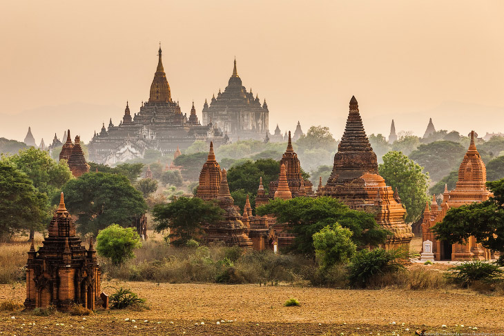 Баган— главная достопримечательность Мьянмы