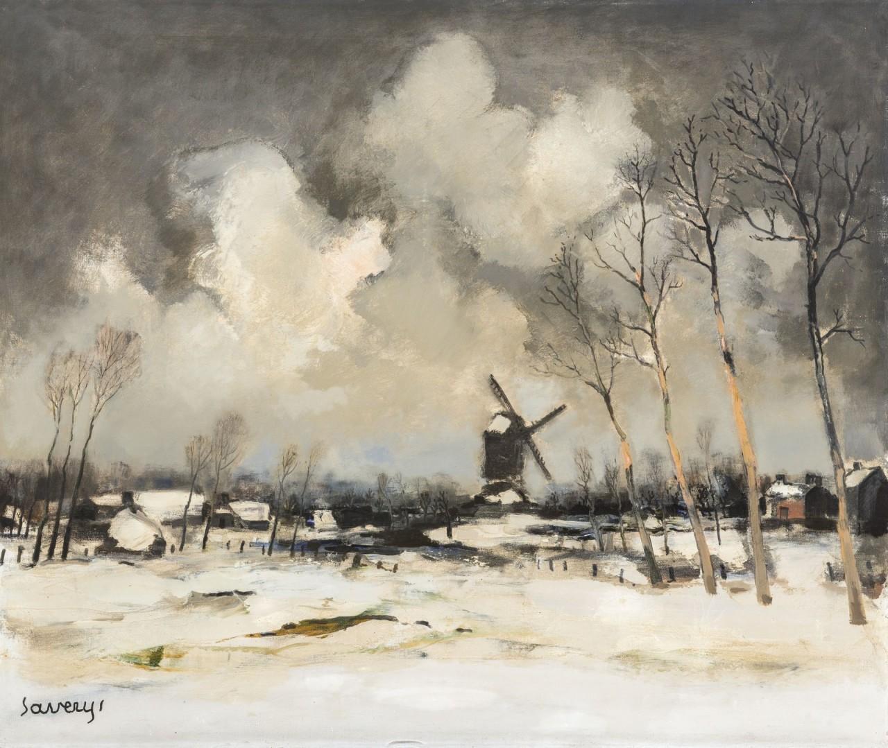 Мастер цветовых эффектов — зимние пейзажи. Альберта Саверейса (Albert Saverys), Бельгия