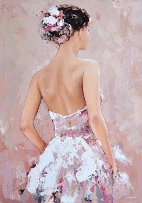 В белом платье. (456x650, 213Kb)