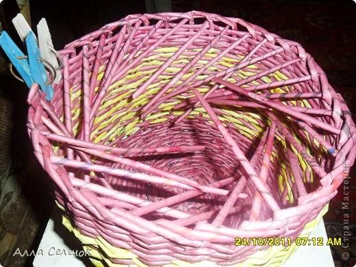 Поделка, изделие Плетение: МК.КАШПО. Бумага газетная. Фото 14