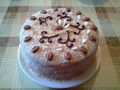 "Тортик на сковородке ""Наливной""- с какао, без раскатки теста-вариация 5"