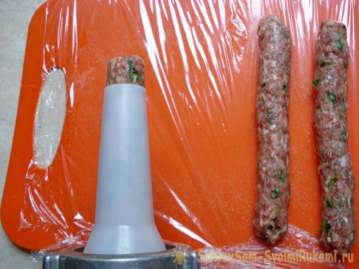 Домашние колбаски без оболочки