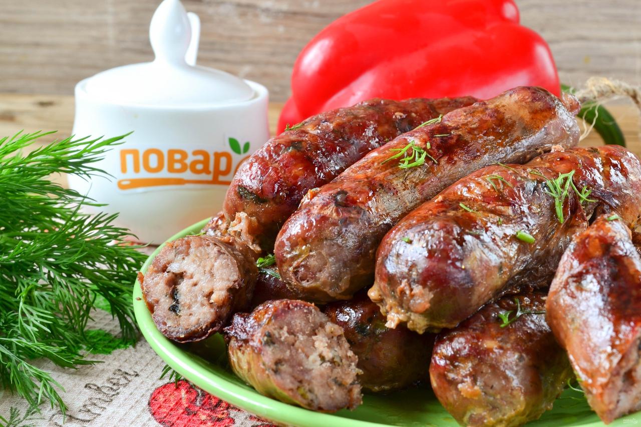Обалденные колбаски с зеленью и чесноком
