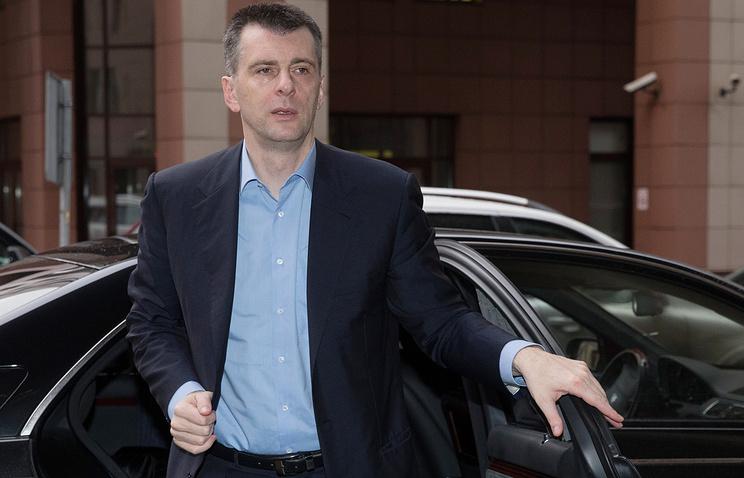 Прохоров готов инициировать судебный процесс против Родченкова в США