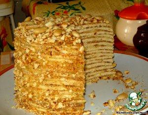 """Торт на сковородке """"Творожный!"""" 400 гр творога- вариация 4"""