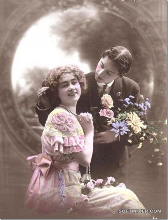 Любовные ретро открытки