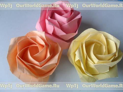 Шикарные розы. Уроки оригами