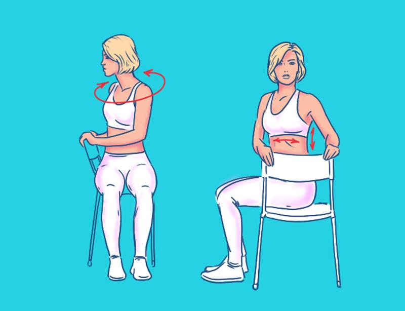 офисная йога упражнения