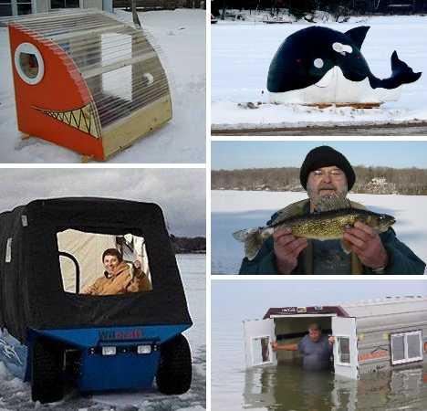 Креативные домики для зимней рыбалки