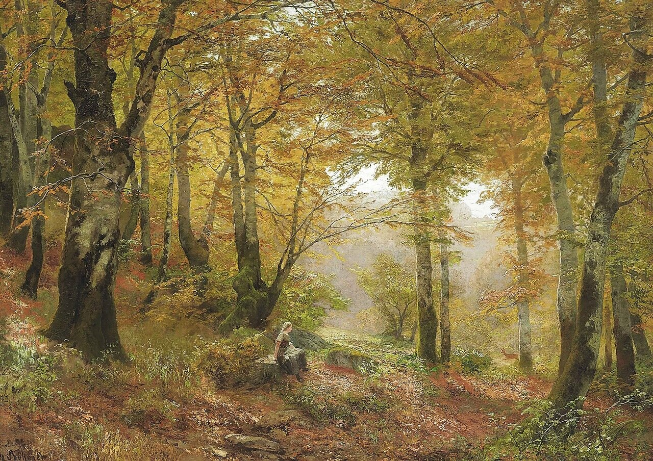 В лесу… Heinrich Bohmer (German, 1852-1930)