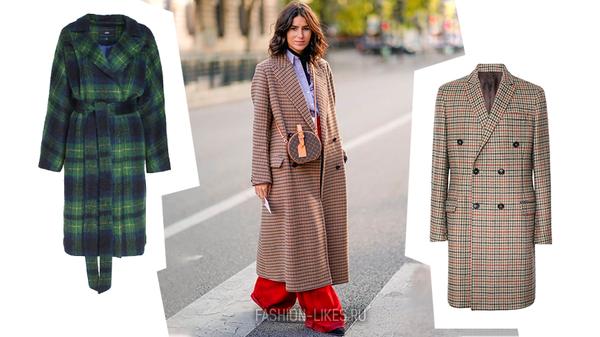 6 способов носить привычное пальто клетку, но выглядеть по-новому и свежо