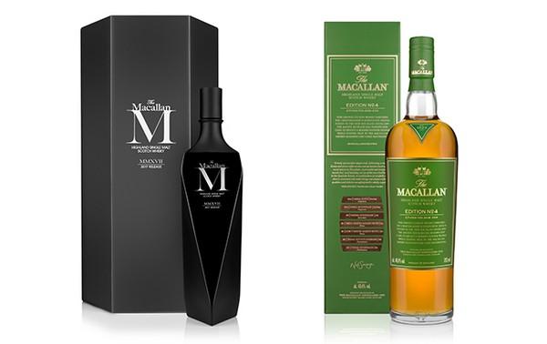 Macallan выпустили две новые лимитированные серии односолодового виски M Black 2017 и Edition No.4