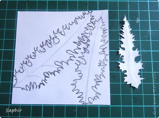 Мастер-класс Квиллинг ЧЕРТОПОЛОХ Бумага Бумага гофрированная Клей Проволока фото 19