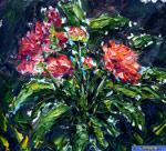 Картины с цветамим - этюд Цветы 181.