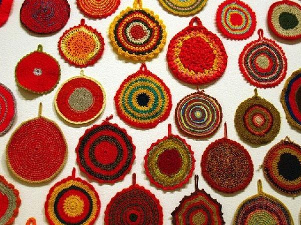 Вязаный текстиль в интерьере