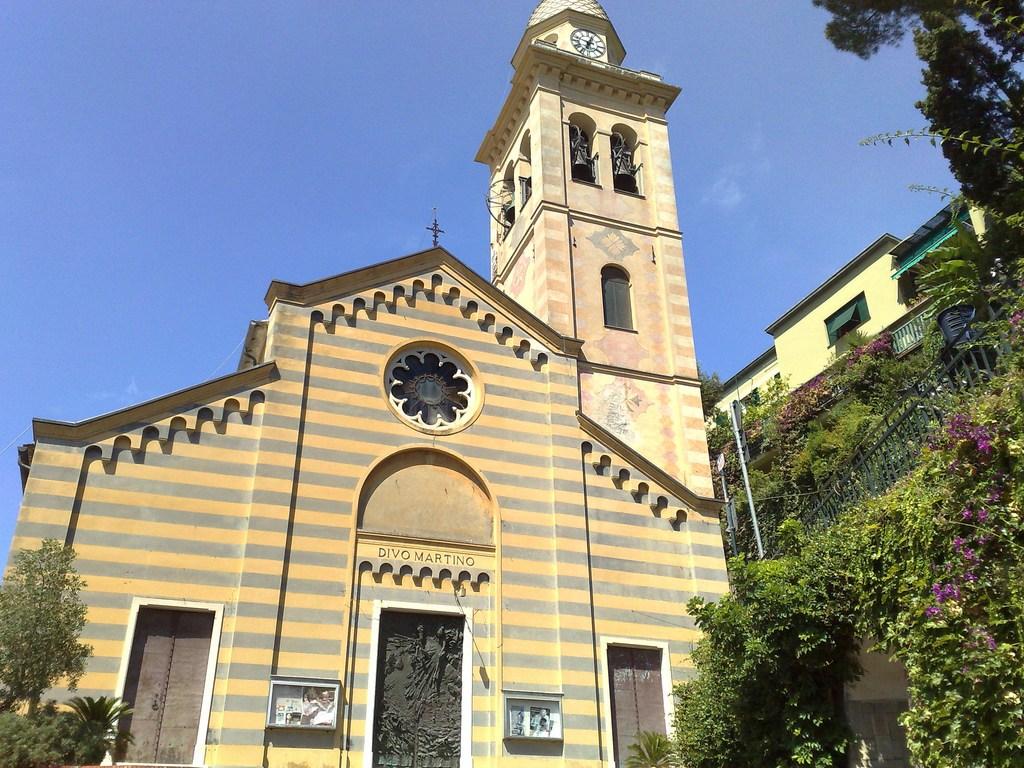 Портофино, Италия, церковь святого Мартина