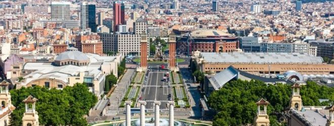 Барселона с высоты птичьего полета