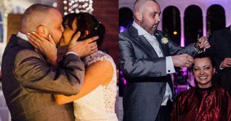 Невеста сразу после церемонии обрила свою голову! Причина более чем достойная