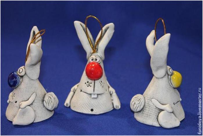 Заяц из глины или теста (подробный мастер-класс)