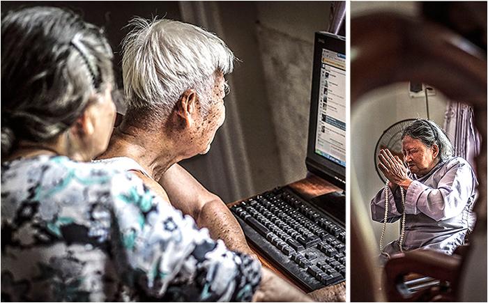 Фотографии пожилой пары, которая вместе 60 лет и не устаёт радоваться жизни