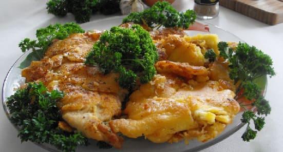 Куриные грудки в кляре с сыром — мечта гурмана