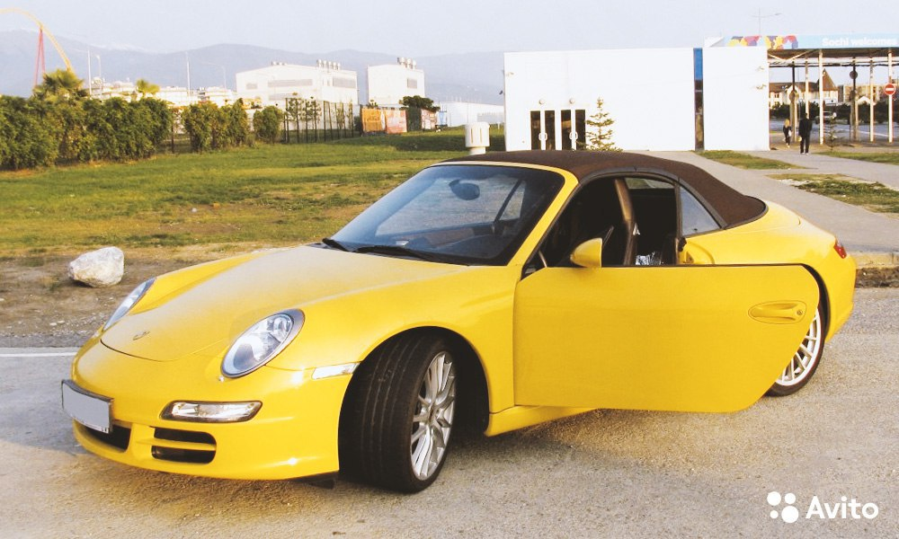 Porsche 911 Carrera S Cabrio (2005).  В полной комплектации, с эксклюзивным кожаным салоном!