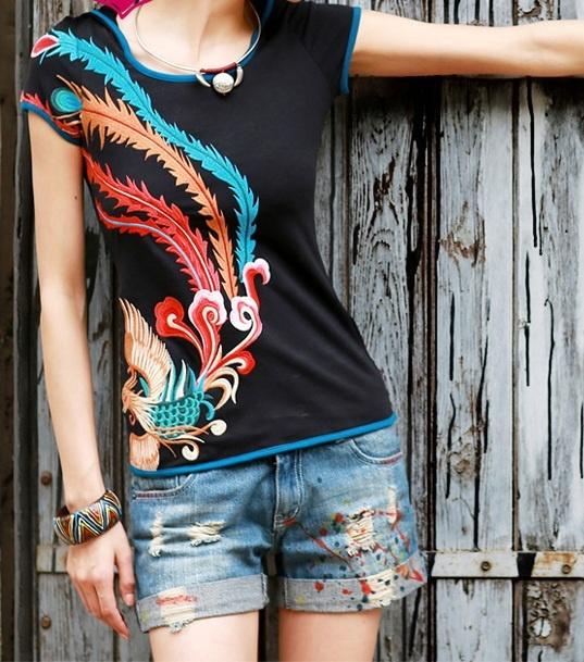 Экзотично. Декор одежды аппликациями и вышивкой в китайском стиле