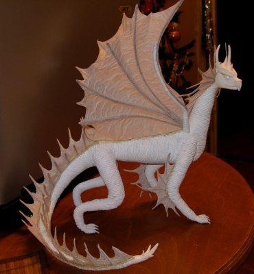 дракон из бумаги своими руками
