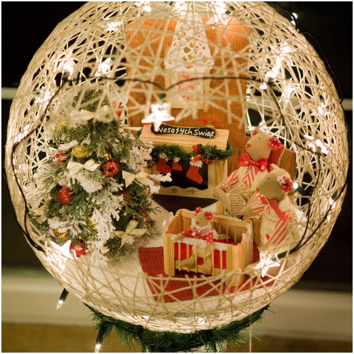 Декор шаров из ниток своими руками