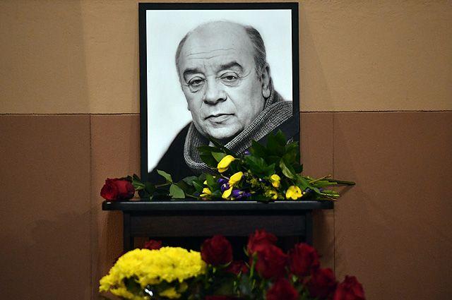 Прощание с народным артистом СССР Леонидом Броневым в театре «Ленком»