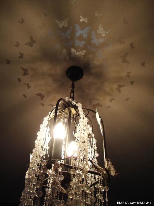 Порхающие бабочки в интерьере. Трафареты для стен и потолка (3) (525x700, 227Kb)