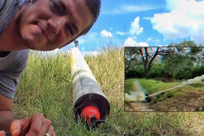 Как сделать ракету из огнетушителя