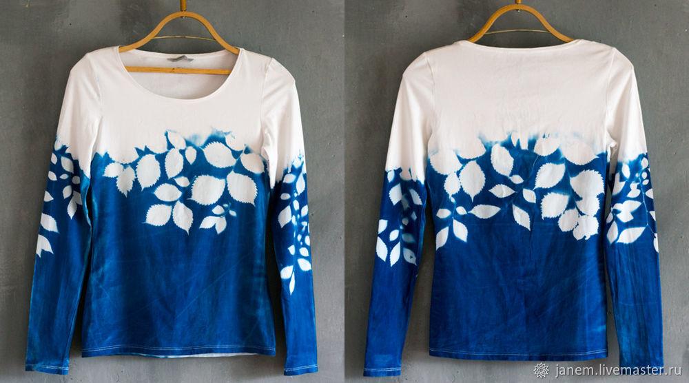 Окраска блузки с помощью растений и солнца