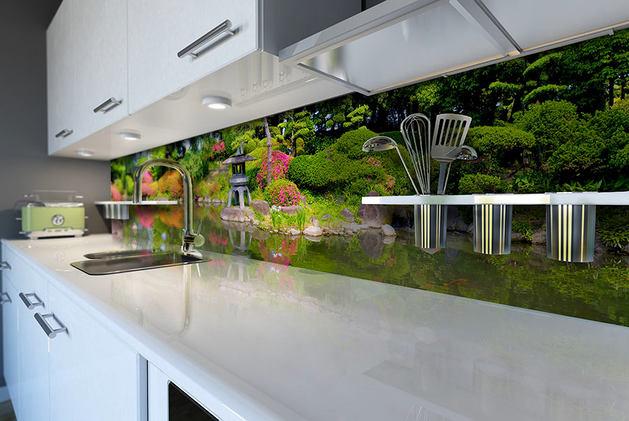 Кухня в цветах: черный, серый, светло-серый, темно-зеленый. Кухня в стилях: минимализм.
