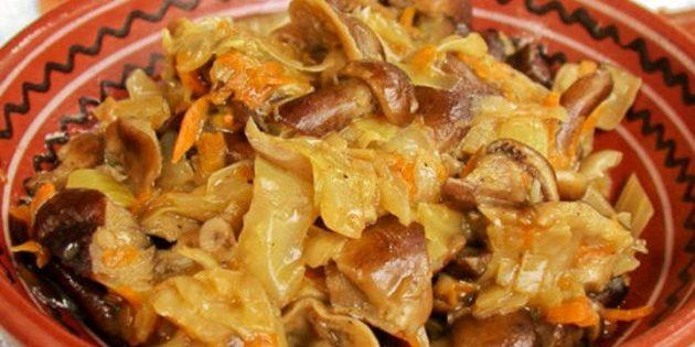 Простые салаты на зиму: Грибная солянка