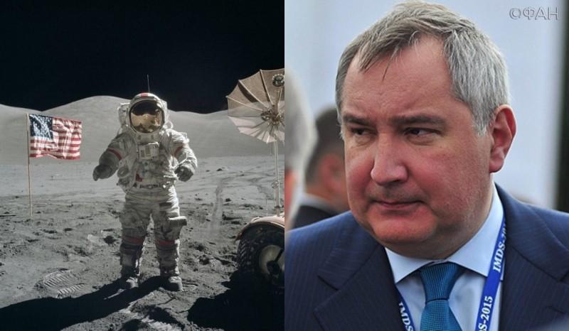Рогозин проверит, были ли американцы на Луне