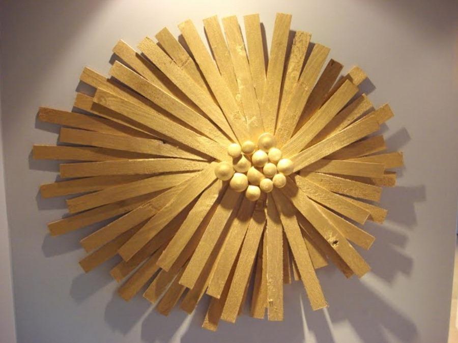 Декор стены с помощью деревянных реек. Самоделкин