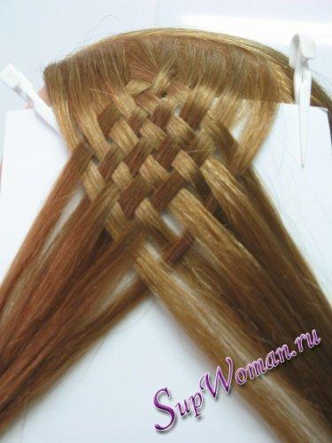 Плетение косичек 12 прядей